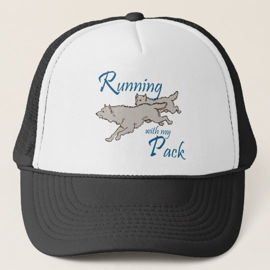 Running with my Pack Trucker Hat