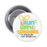 Running With Scissors 2 Inch Round Button