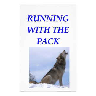 running with the pack customized stationery
