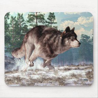 Running Wolf Mouse Pad