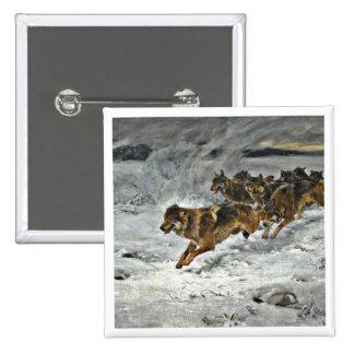 Running Wolf Pack Pin