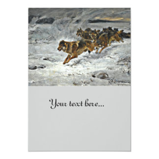 Running Wolf Pack Card