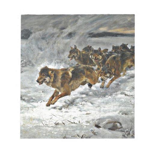 Running Wolf Pack Scratch Pads