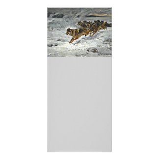 Running Wolf Pack Rack Card
