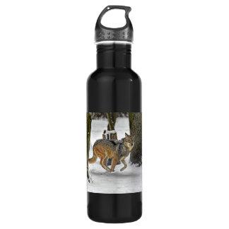 Running Wolf 24oz Water Bottle