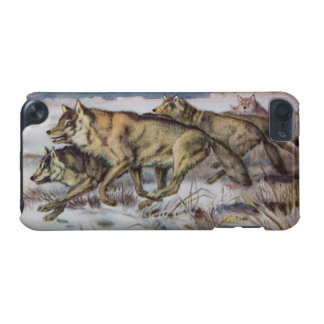 Running Wolves Vintage Illustration iPod Touch (5th Generation) Case