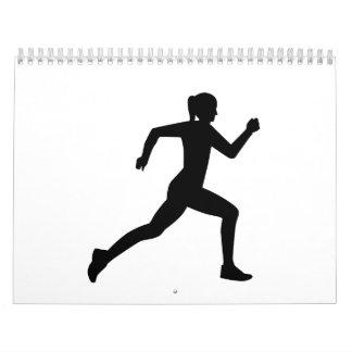 Running woman girl calendars