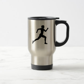 Running woman girl mugs