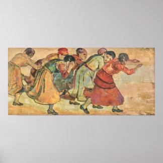 Running Women by Ferdinand Hodler Print