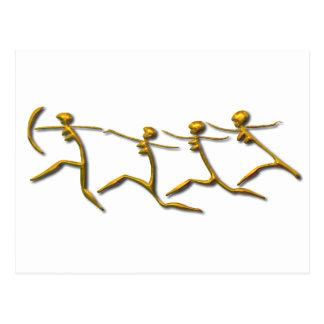 Running Women-gold Postcard