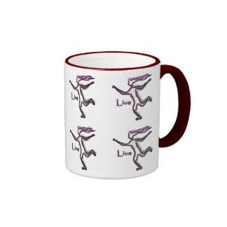 Running women Live Coffee Mugs