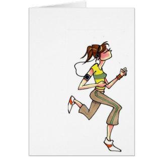 running women notecard