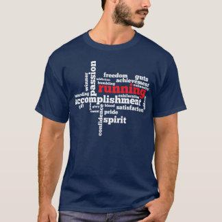 Running Word Cloud 2 Mens Dark T-Shirt