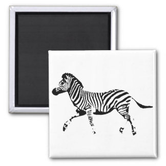 Running Zebra Fridge Magnets