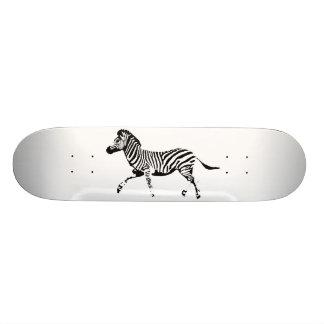 Running Zebra Custom Skate Board