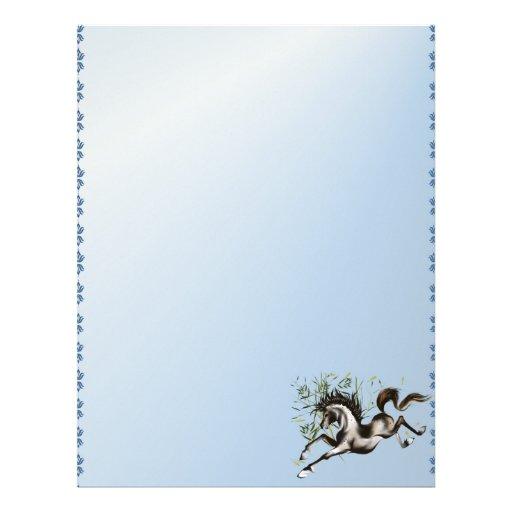 Runnung Horse letterhead_vertical. Letterhead