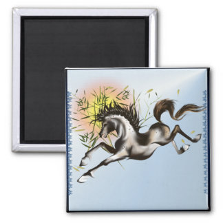Runnung Horse_Magnet 2 Inch Square Magnet