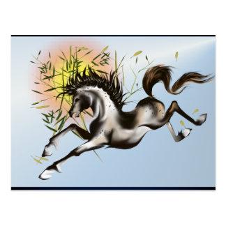 Runnung Horse-Postcard Postcard