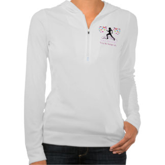 Runs Like a Girl Hooded Pullovers