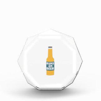 Runs on Beer Bottle Zcy3l Acrylic Award