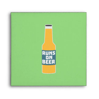 Runs on Beer Bottle Zcy3l Envelope