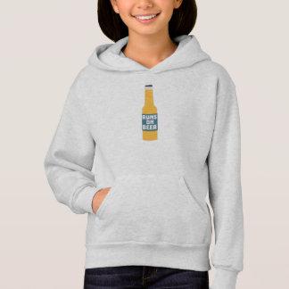 Runs on Beer Bottle Zcy3l Hoodie
