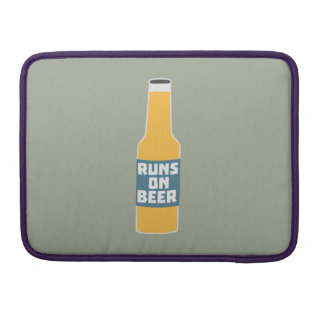 Runs on Beer Bottle Zcy3l MacBook Pro Sleeve