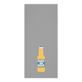 Runs on Beer Bottle Zcy3l Rack Card