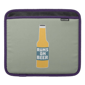 Runs on Beer Bottle Zcy3l Sleeve For iPads