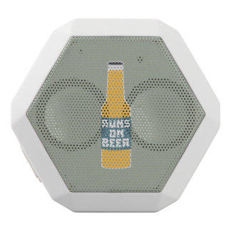Runs on Beer Bottle Zcy3l White Bluetooth Speaker