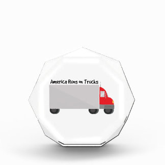 Runs on Trucks Acrylic Award