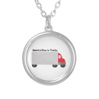 Runs on Trucks Personalized Necklace