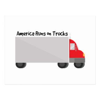 Runs on Trucks Postcard