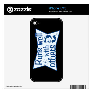 Runs Well With Others iPhone 4S Skin