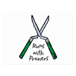 Runs with Pruners Postcard