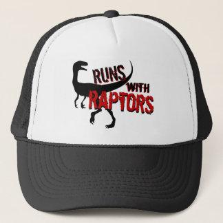 RUNS with RAPTORS Trucker Hat