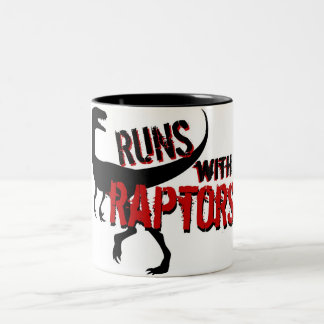 RUNS with RAPTORS Two-Tone Coffee Mug