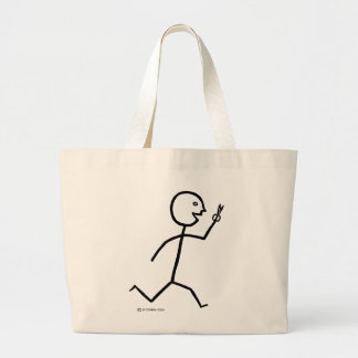Runs With Scissors Jumbo Tote Bag