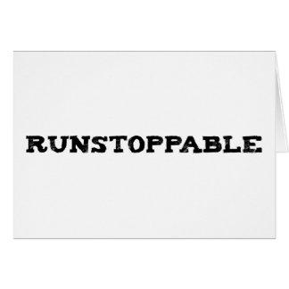 Runstoppable Greeting Card