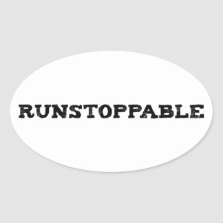 Runstoppable Pegatina Ovalada