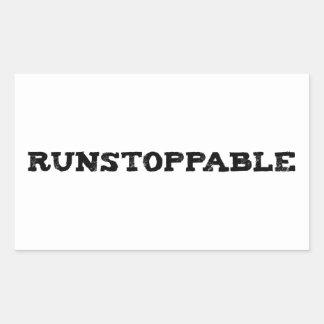 Runstoppable Rectangular Sticker