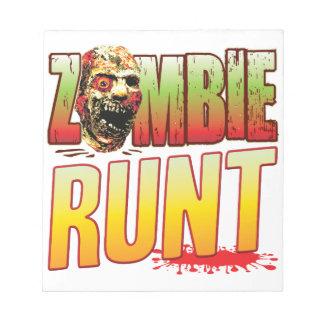 Runt Zombie Head Memo Notepads