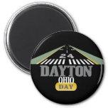 Runway 24 - Dayton Ohio DAY 2 Inch Round Magnet