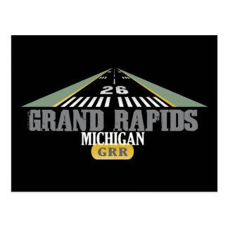Runway 26 - Grand Rapids Michigan GRR Postcard