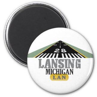 Runway 28 - Lansing Michigan LAN Magnet
