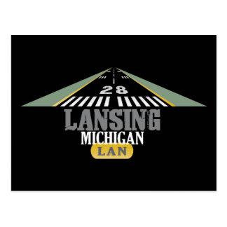 Runway 28 - Lansing Michigan LAN Postcard