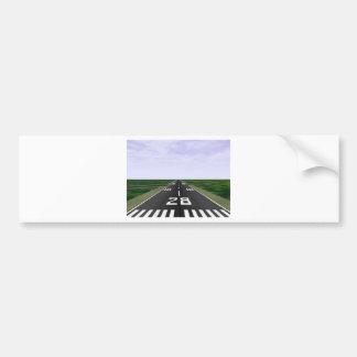 Runway Bumper Sticker