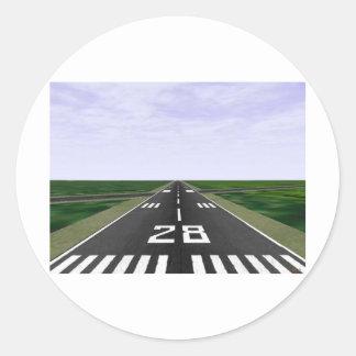 Runway Classic Round Sticker
