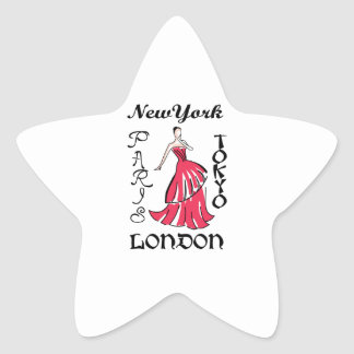 RUNWAY FASHION MODEL STAR STICKERS