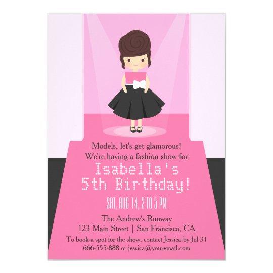 Runway Fashion Show Birthday Party Invitations Zazzlecom